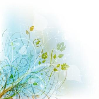 グランジの背景に装飾的な花柄