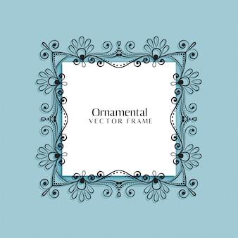 Decorative floral frame background design