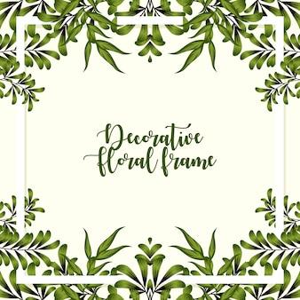 Decorative floral frame ornament