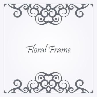 Декоративная цветочная рамка