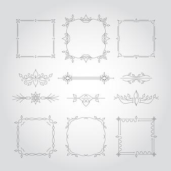 Decorative floral frames