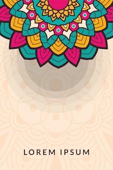 Декоративный цветочный баннер с половиной мандалы