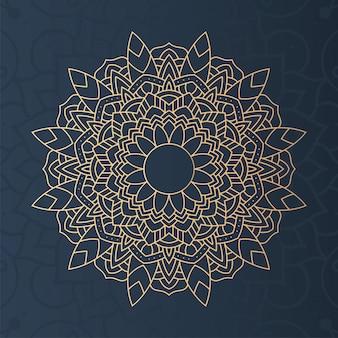 Decorative floral mandala with blue background illustration design