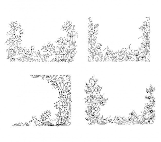 Decorative floral sketch illustration