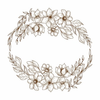 Schizzo floreale decorativo