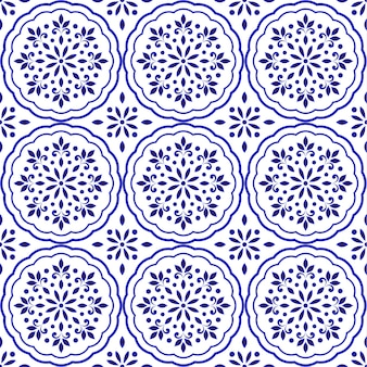 Decorative floral tile pattern