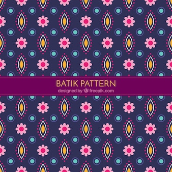 Decorative flower pattern in batik style