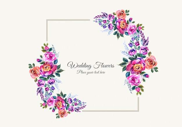 Decorative flowers frame