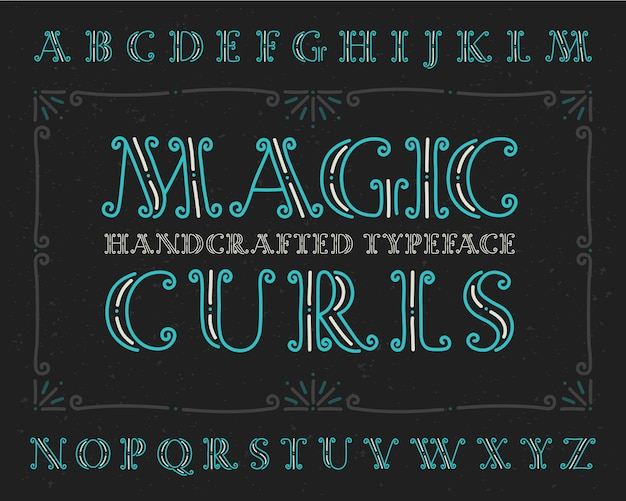 Decorative font set