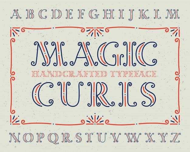 장식적인 글꼴 세트
