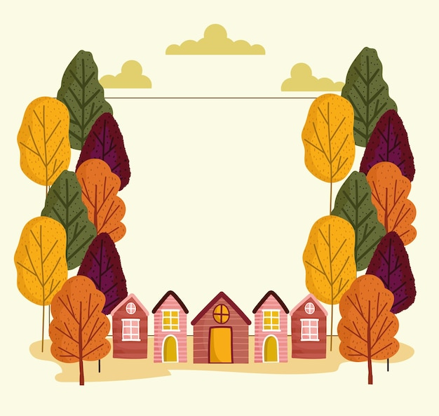Decorative frame of autumn