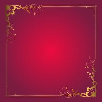 Decorative frame background with elegant gold border