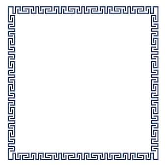 Decorative frame for design in greek style