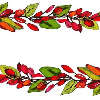 メギの装飾的なフレーム結婚式や誕生日のための繊細なグリーティングカードの招待状