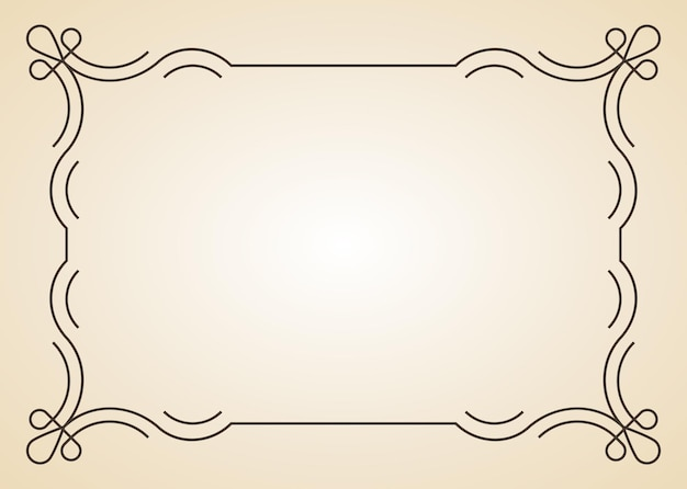 Decorative frame. vintage calligraphic antique border. ornate calligraph rectangle frame filigree floral ornaments for framed certificate template.