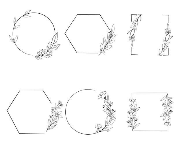 花飾り付きの装飾フレーム。