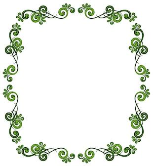 꽃 패턴으로 장식 프레임입니다. 인사말 카드, 상 및 청첩장을 위한 템플릿입니다.