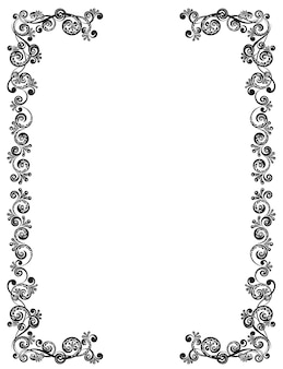 Decorative frame with floral pattern. template for greeting cards, awards and wedding invitations.