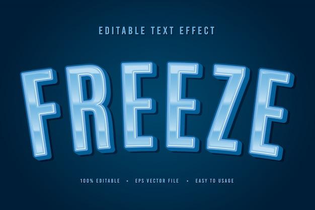 Decorative freeze font and alphabet vector