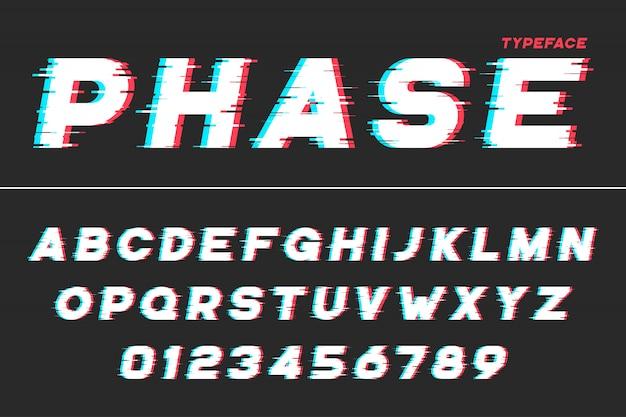 Decorative futuristic font
