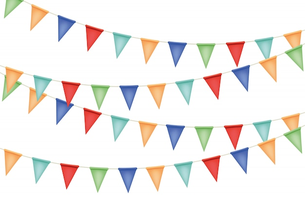 Decorative garland flags illustration