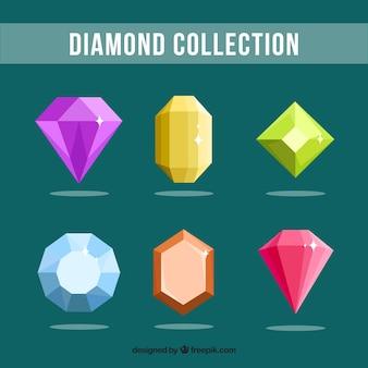 さまざまな色やデザインで装飾宝石