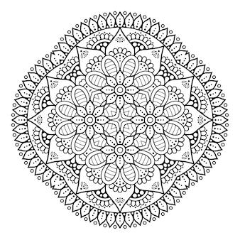 Decorative geometric tile hand drawn illustration