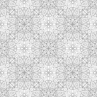 Decorative geometric tile seamless pattern