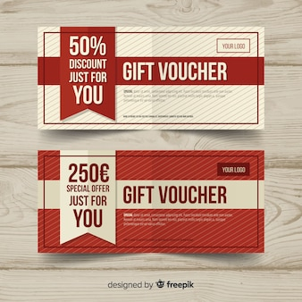 Decorative gift voucher banners
