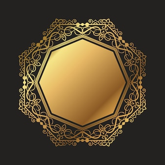 Decorative gold frame background