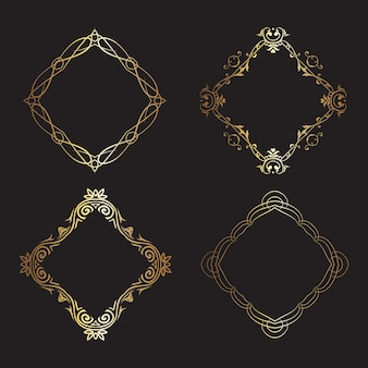 Decorative gold frames collection