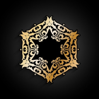 Decorative golden and black background