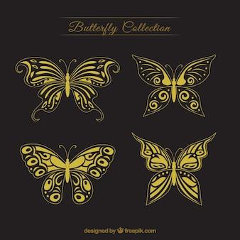 装飾的な黄金の蝶