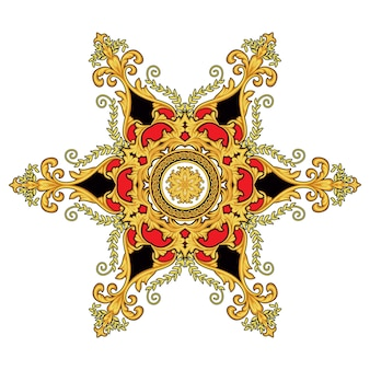 Decorative golden element in baroque style