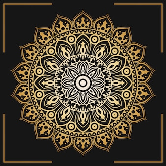 Decorative golden mandala wallpaper