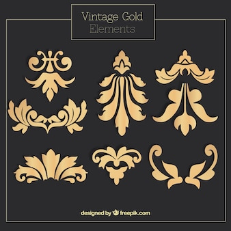 Decorative golden ornaments