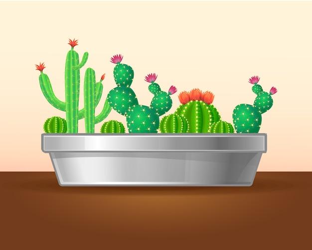 装飾的な緑の植物の概念