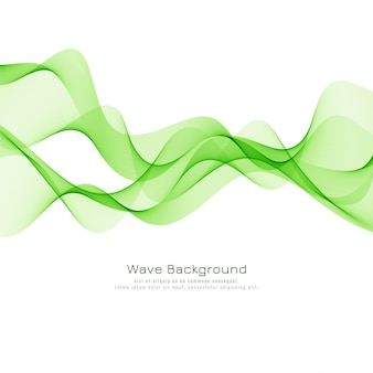Decorative green wave elegant background vector