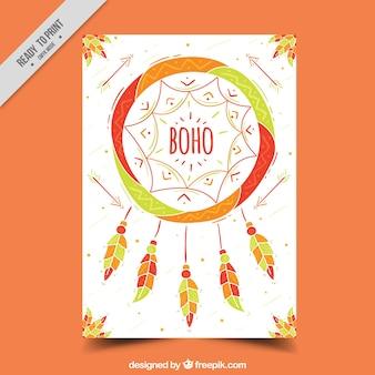 Biglietto di auguri decorativo con acchiappasogni colorato