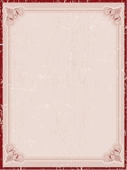 Декоративная граница в винтажном стиле гранж