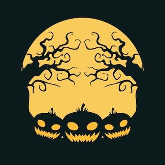 Декоративный фон хэллоуина рисованной стиль