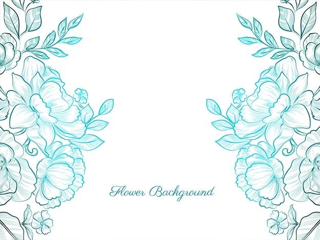 Decorative hand drawn flower elegant background