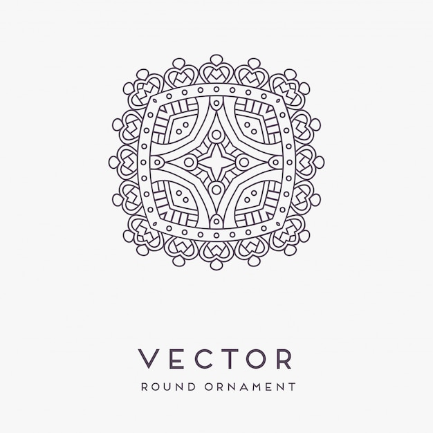 Decorative hand drawn mandala illustration