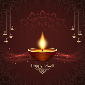 Decorative happy diwali cultural festival background