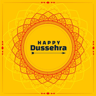 Decorative happy dussehra festival wishes card design