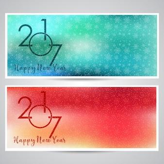 Decorativi sfondi felice anno nuovo con disegni fiocco di neve