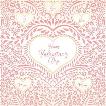 Decorative happy valentine's day frame