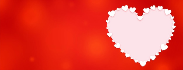 Decorative heart valentines day red banner