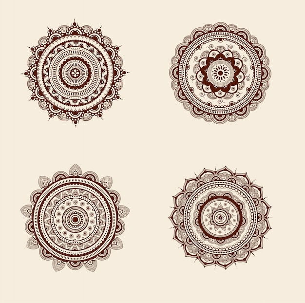 Decorative high details mandala design pack