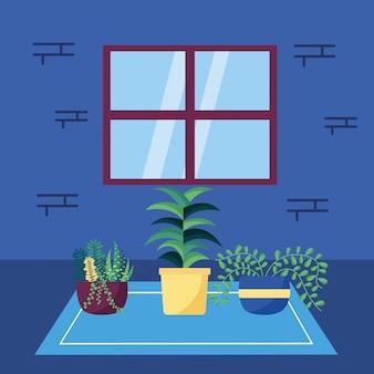 장식 집 식물 인테리어 디자인